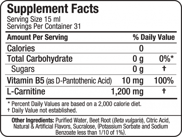 Allmax Liquid L-Carnitine facts